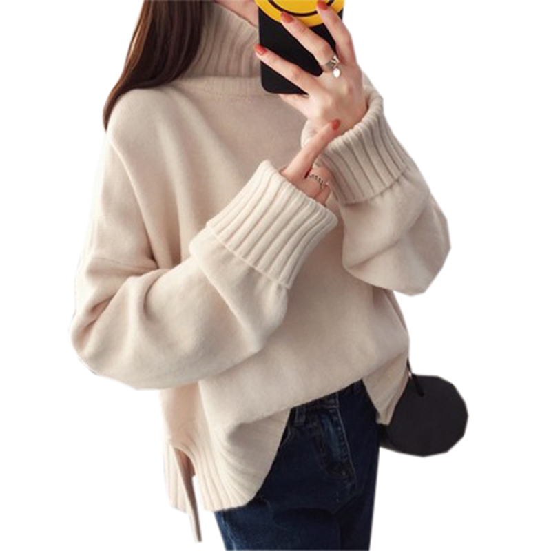 2018 plus size Winter Sweater For Women Cashmere Turtleneck Sleeve Knitting Jumper Spring Thick warm Casual sweaters RE0874