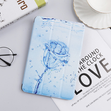 Cartoon Painting Case for Apple iPad Mini 4 2015 7.9'' A1538 A1550 Leather Flip Cover for iPad Mini4 Magnetic Cover Stand Coque