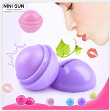 1pcs New Makeup Round Candy Color Moisturizing Lip Balm Natural Plant Sphere Lip Gloss Lipstick Fruit Embellish Lip spherical