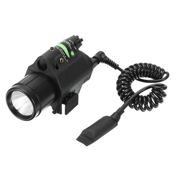 Green Laser Sight Dot Scope 300 Lumen LED Flashlight Combo Tactical Picatinny 20mm Rail Mount