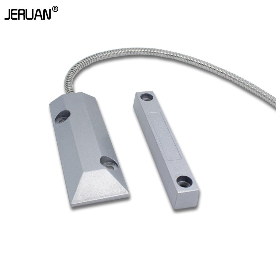Garage door alarm sensor - Free Shipping Metal Wired Magnetic Sensor For Door Or Window Security Alarm System Rolling Gate Alarm