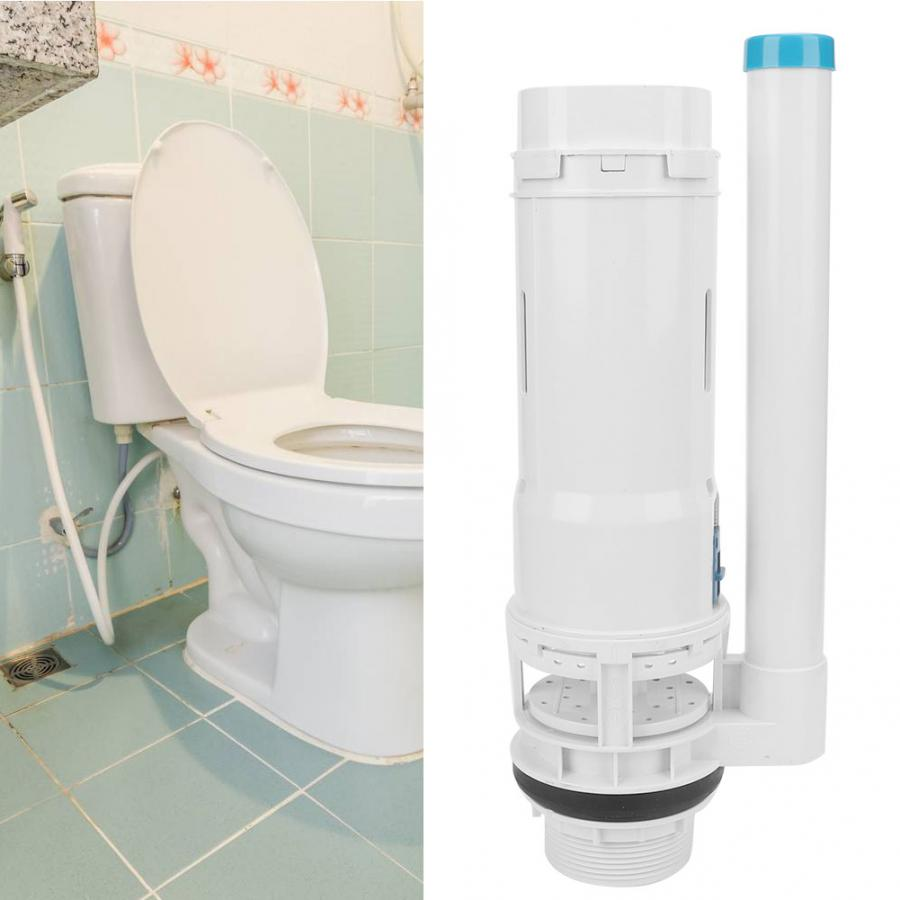 Toilet Fill Valve Drain Flush Valve Button Kit Bathroom Accessories for Two Piece Toilet Replacement Toilet Fill Valve Water Drain Flush Valve Dual Button Kits