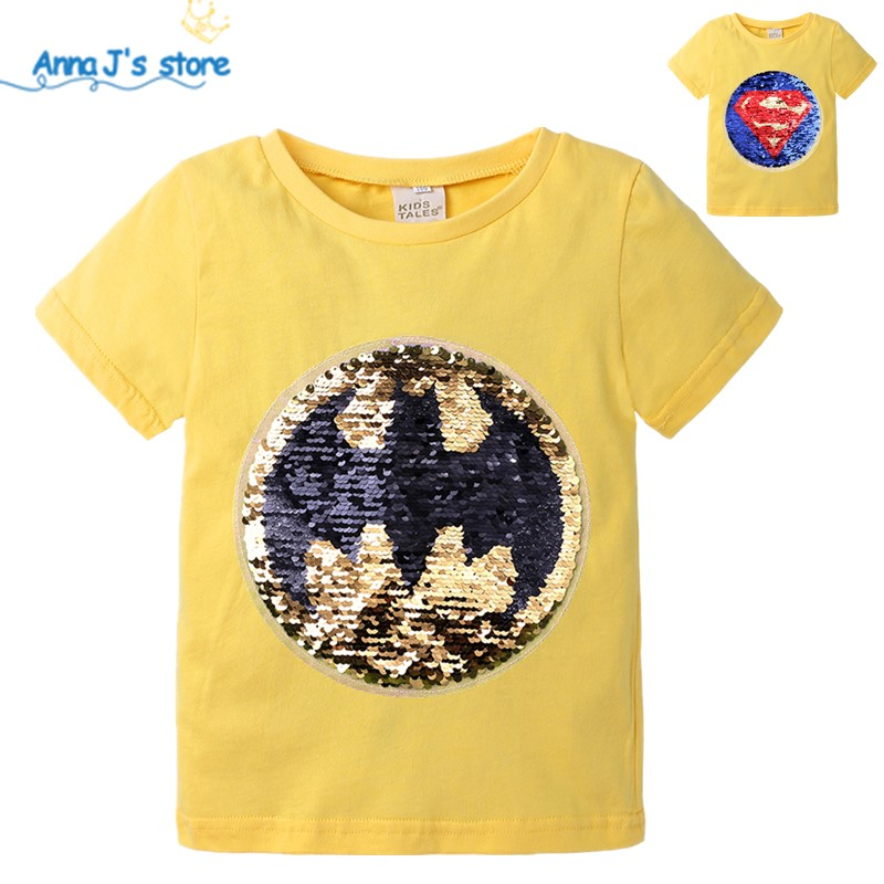 Reversible Sequins Sew On Patches for clothes Kids Boy Girl T Shirt Coat Embroidered Reverse Patch Applique boys t-shirt ZX394(China)