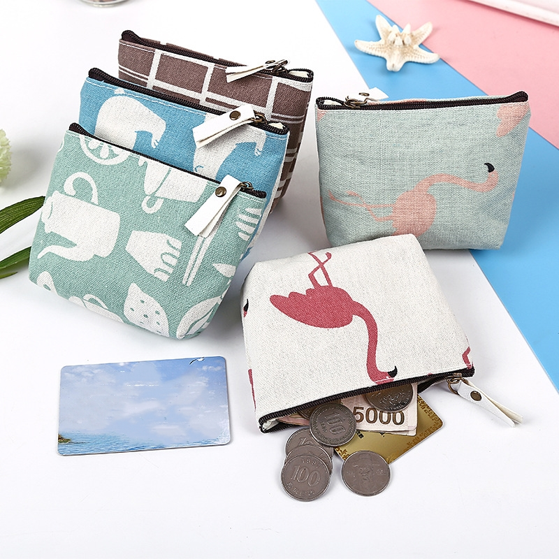 Hot Sale Cute Small Mini Women Coin Purse Bag Canvas Card Key Coin Change Money Holder Case Pouch Wallet for Children