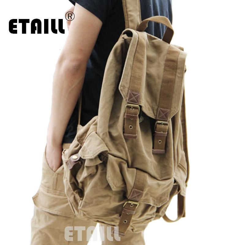 Casual Men Backpacks Fashion Vintage School Bags Canvas Rucksack Men s Daypacks Famous Backpack Brand Luxury