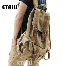 Повседневные мужские рюкзаки, Модные Винтажные школьные сумки, Холщовый Рюкзак, мужские рюкзаки, известный бренд, роскошный рюкзак, мужской рюкзак