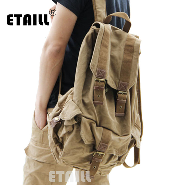 6dc07383a6cf86 Casual Men Backpacks Fashion Vintage School Bags Canvas Rucksack Men's  Daypacks Famous Backpack Brand Luxury Sac a Dos Homme