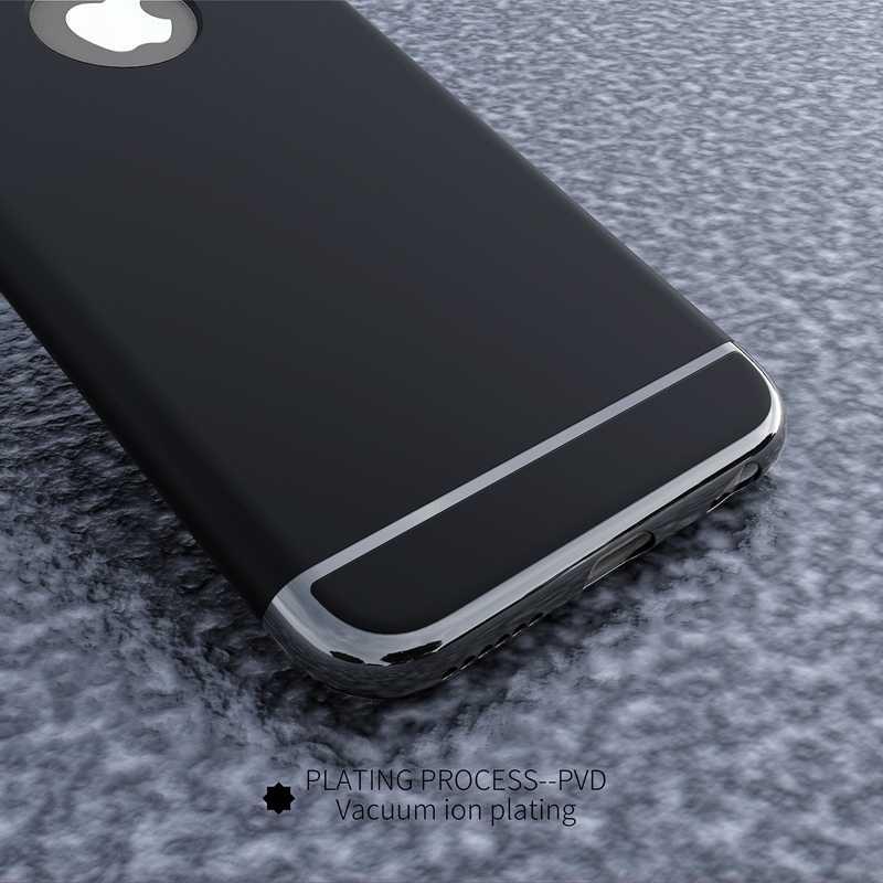 ¡Anti-Knock arco diseño! Lujosa carcasa de PC de 3 en 1 para Iphone 6 6 S 4,7 pulgadas Ultra delgada mate + logotipo Círculo