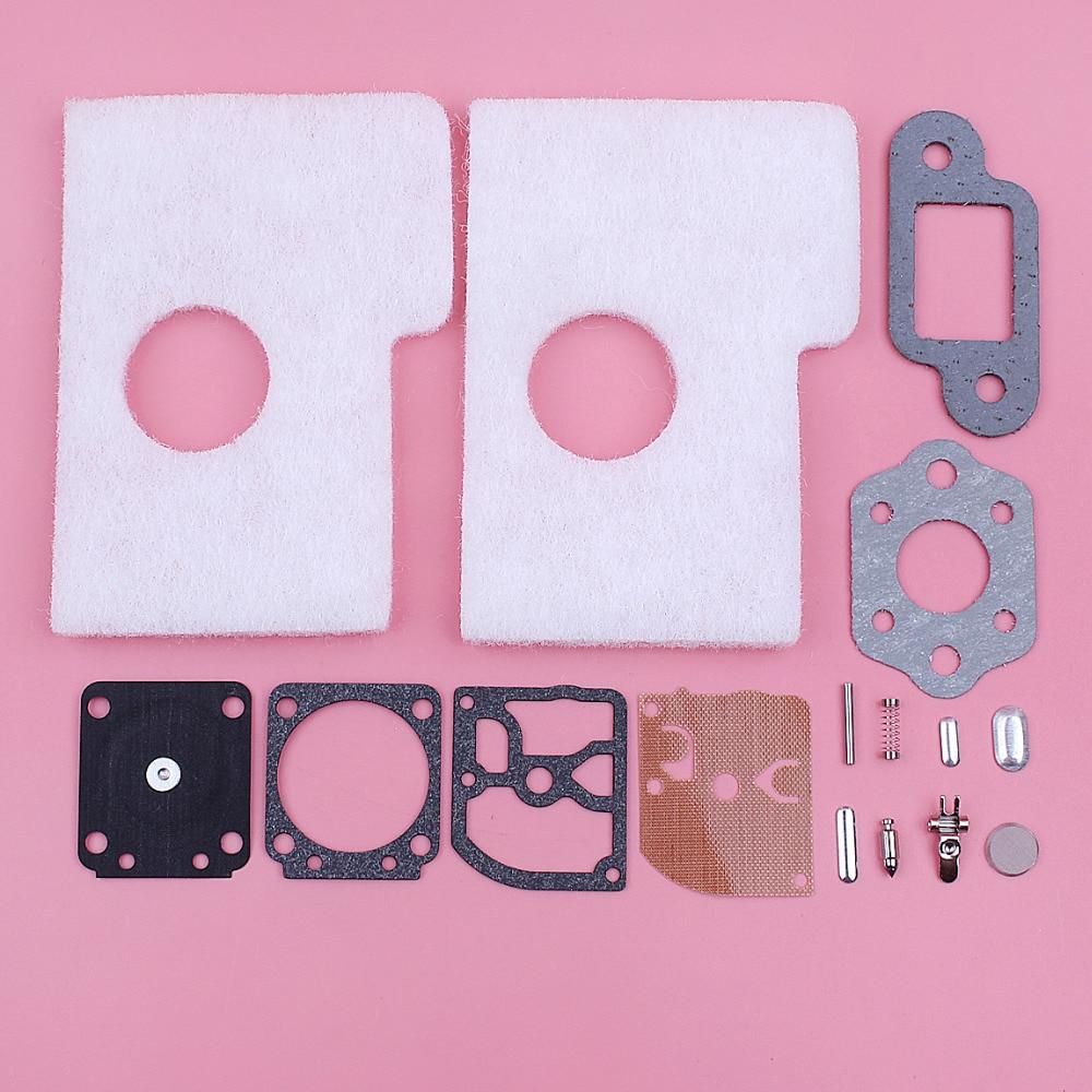 Carburetor Repair Rebuild Kit For Stihl MS180 018 MS170 017 MS 180 170 Chainsaw Spare Tool Part Air Filter Carb Muffler Gasket