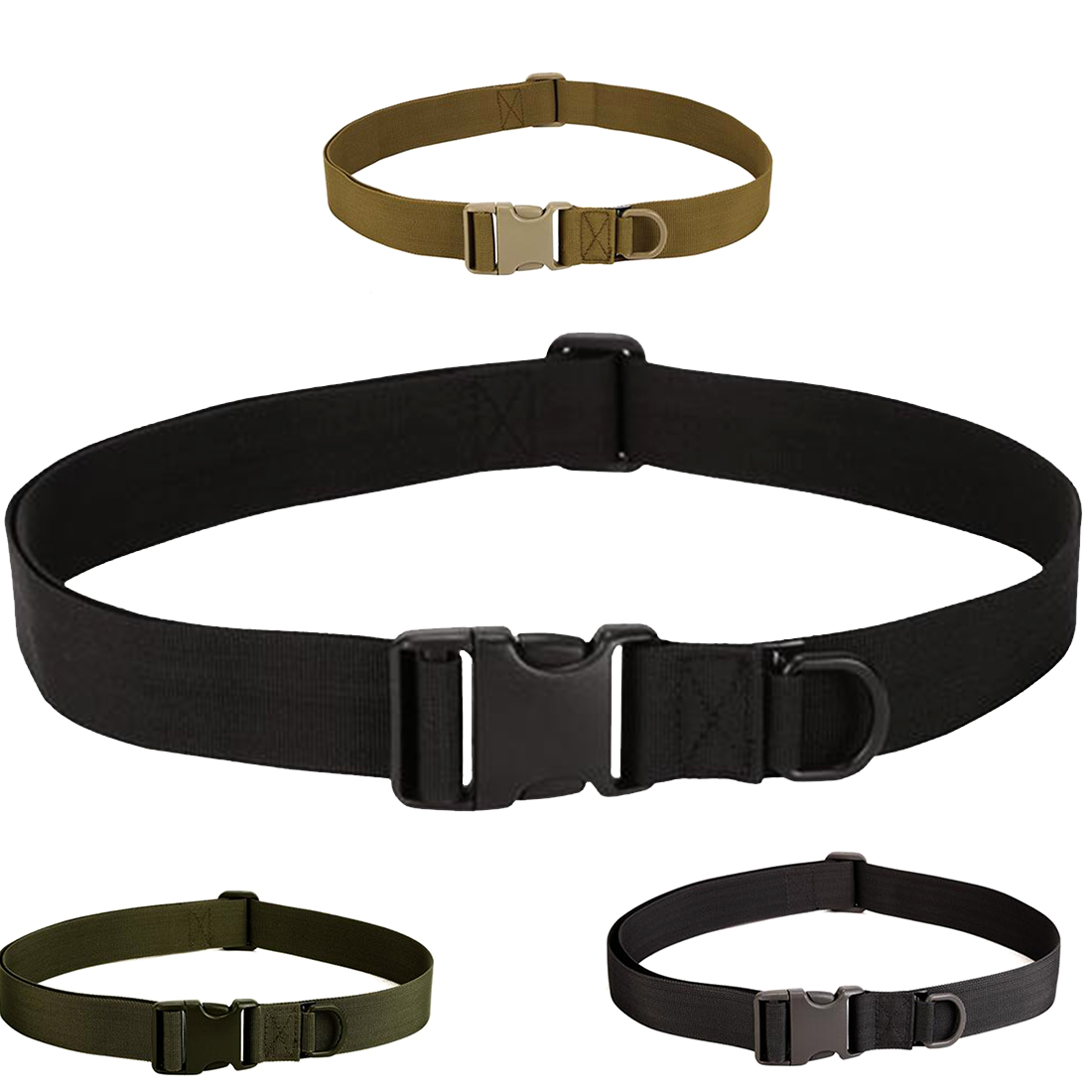Mens Military Equipment Knock Off Army Belt Heavy Duty US Soldier Combat Simple Tactical Belts Sturdy Nylon Waistband