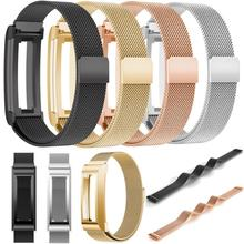 New Luxury Quality Design Stainless Steel Watchband Wrist strap For Fitbit Alta Smart Watch Men