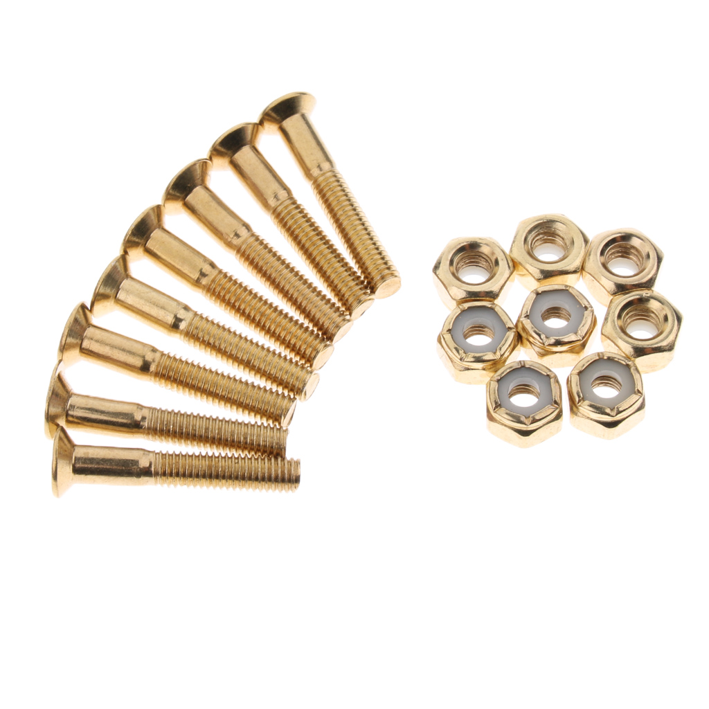 "8 Set 1.1""/ 29mm Longboard Skateboard Trucks Screws Nuts Bolts Set Deck Mounting Replacement Hardware"