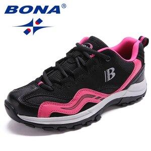Image 1 - BONA คลาสสิกใหม่สไตล์ผู้หญิงเดินป่ารองเท้ากลางแจ้งรองเท้าวิ่ง Lace Up รองเท้าสบายจัดส่งฟรี