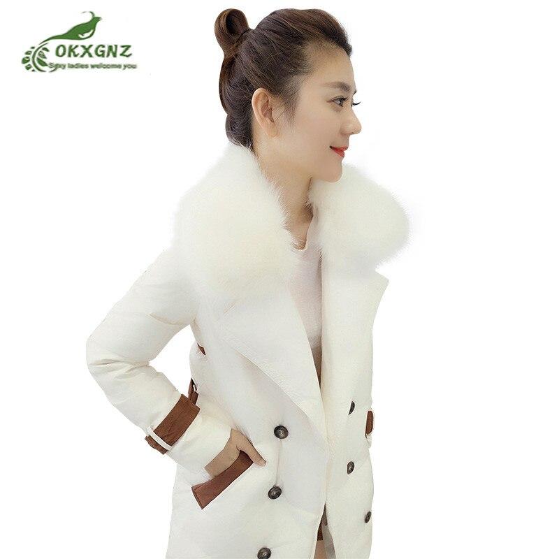Detalle Comentarios Preguntas sobre Chaquetas de invierno de plumón para  mujer 2019 nuevas chaquetas de piel aumento de pato blanco chaquetas de  mujer medio ... 6833bba0d799
