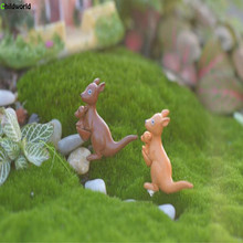 2pcs/lot micro-landscape craft kangaroo decoration fairy garden plants small ornaments DIY material accessories decorations zakka groceries elephant puppy kitty kangaroo pvc action figures toy diy micro garden landscape decoration props children gifts