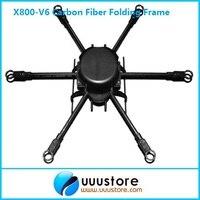 FPV X800 V6 KK MK FF MWC Carbon Fiber Folding Frame Hexacopter Aircraft FPV Kit