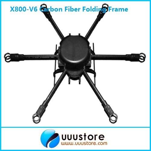 FPV X800-V6 KK MK FF MWC cadre pliant en Fiber de carbone Hexacopter avion FPV Kit