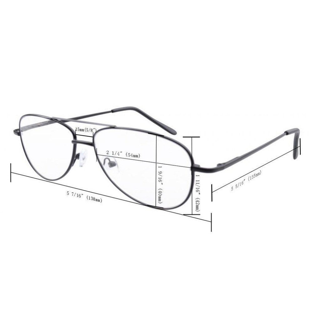 57393c6ffa R1502 Eyekepper Metal Frame Spring Hinges Reading Glasses+0.0 0.5 0.75 1.0 1.25 1.50 1.75 2.0 2.25 2.5 2.75 3.0 3.5 4.0 4.5 5.0-in  Reading Glasses from ...