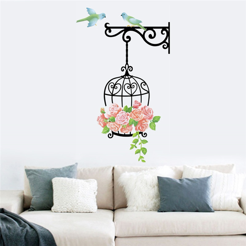creative-Bird-and-Birdcage-Room-TV-sofa-background