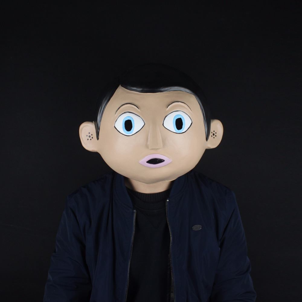Película 2014 Frank Chris Sievey Máscaras DJ Helmet Musician Mask - Disfraces