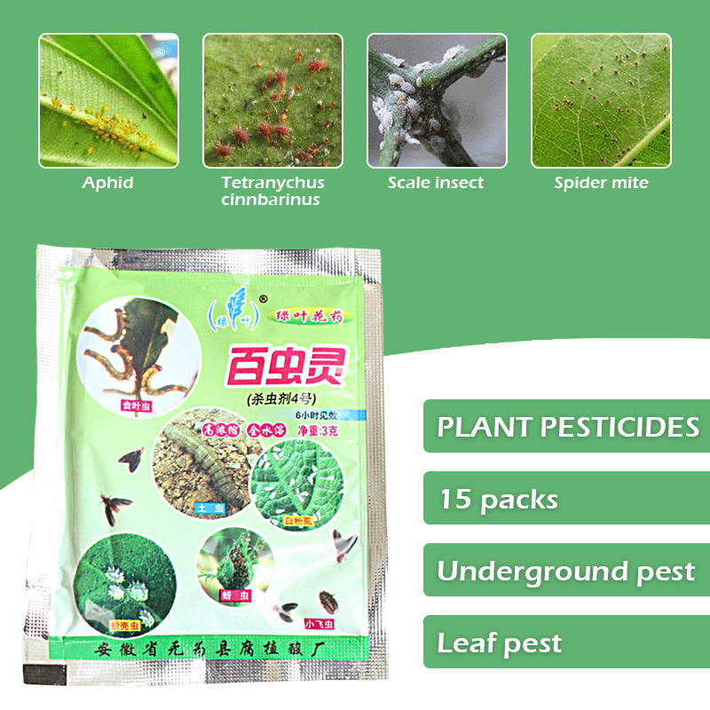 15pcs Plant Insecticide Family Flower Plant Pest Control Dilution Water Spray Type Foliar & Land Under Pest Killer