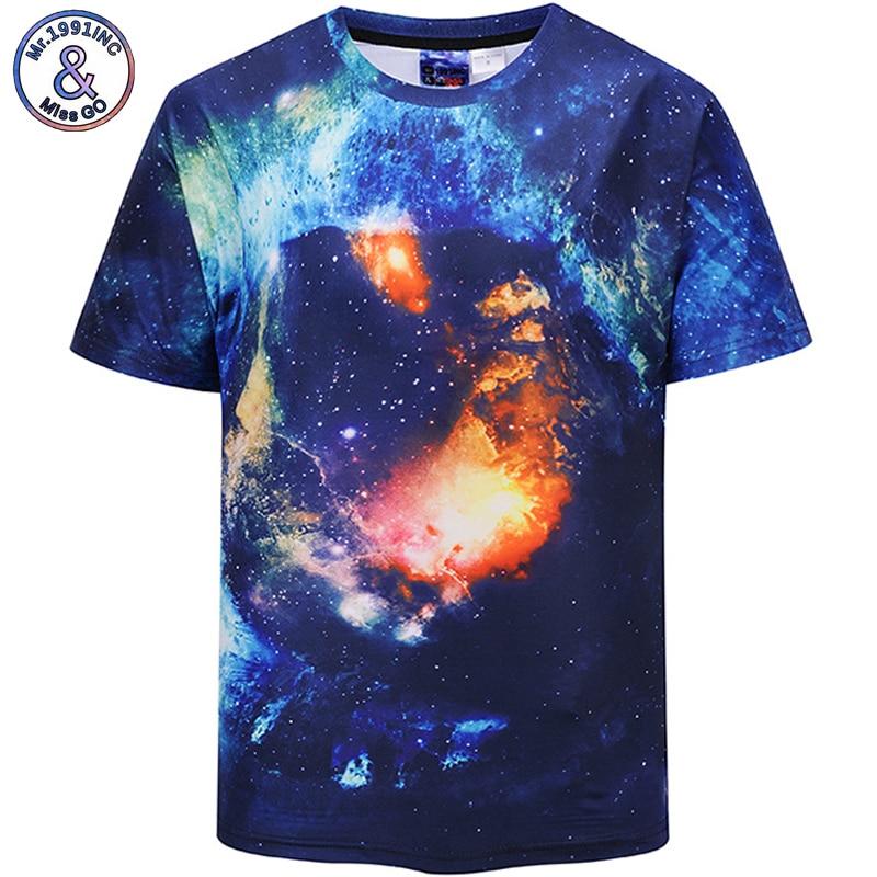 Mr.1991INC European Size 2018 New Hot Men t shirt Short Sleeve Summer 3D Digital starry sky print Tops Tees S-2XL DX802003#