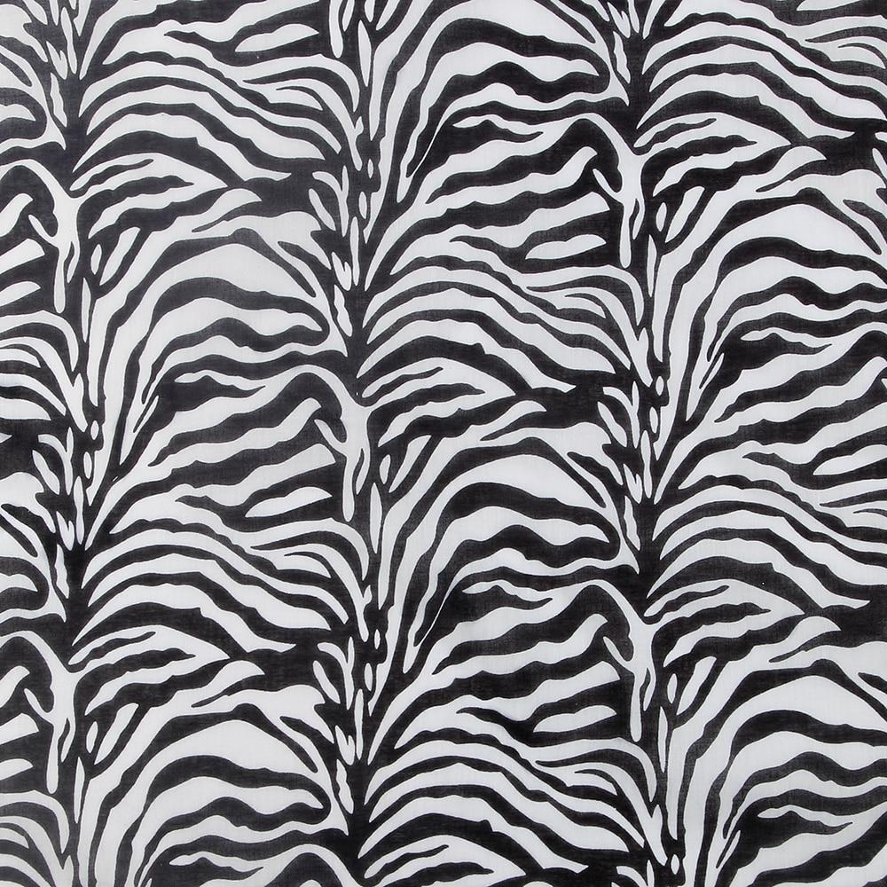 2018 100% Cotton Fashion Black And White Zebra Print Bandana For Women Men Girls Boys Summer New Punk Hip Hop Headwear