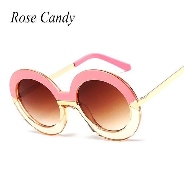 ac4042fb84d6e3 Rose De Sucrerie Vintage Ronde Gradient Cercle Cadre Flèche Formes 2016  Nouvelles Femmes lunettes de Soleil