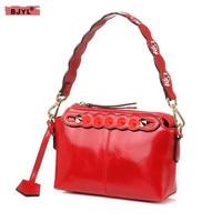 2018 New fashion trend Women handbags genuine leather ladies shoulder bag simple female rivet bag handbag