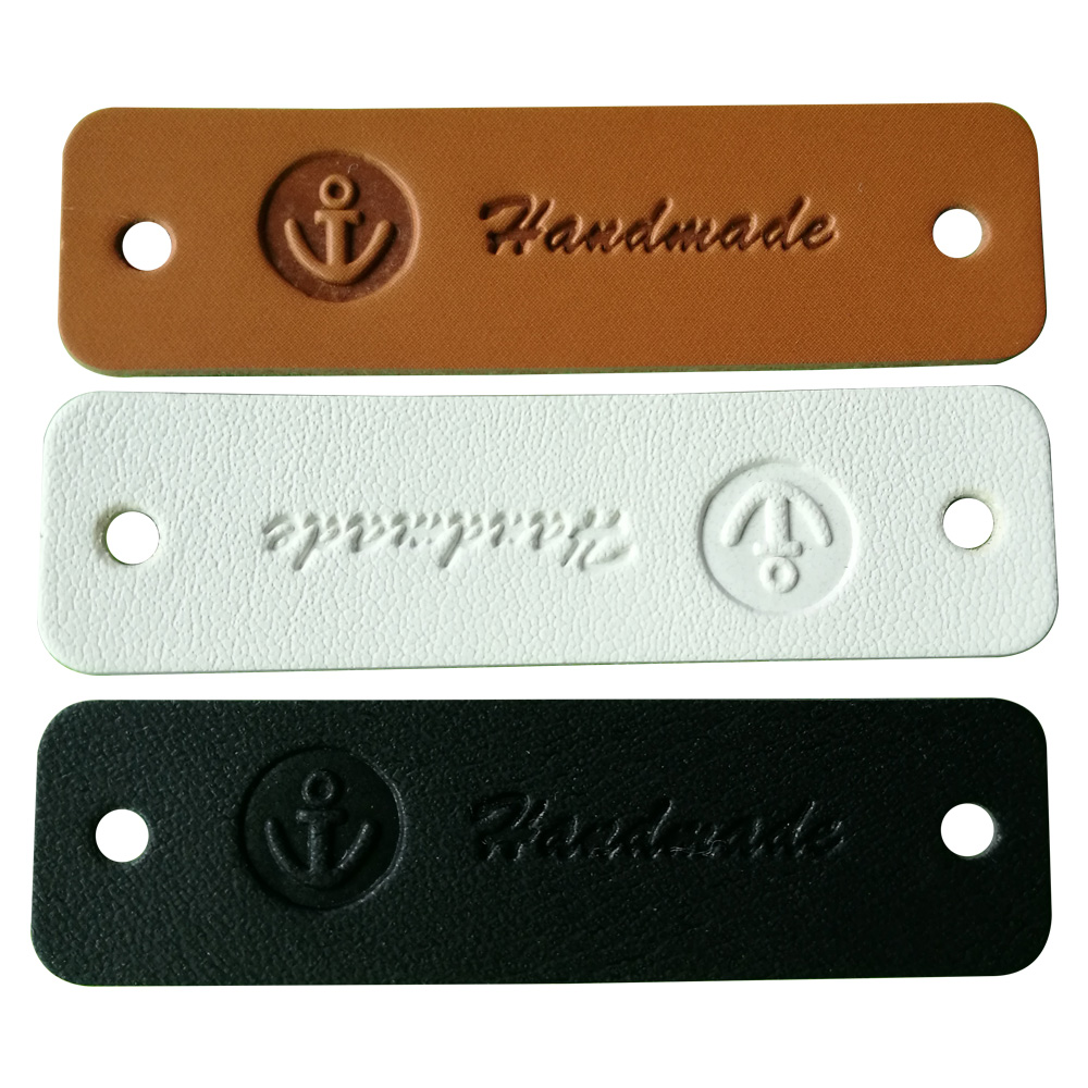 Hand made leather tags for clothing leather labels for clothes handmade tag for bag customized sewing leather label for handwork