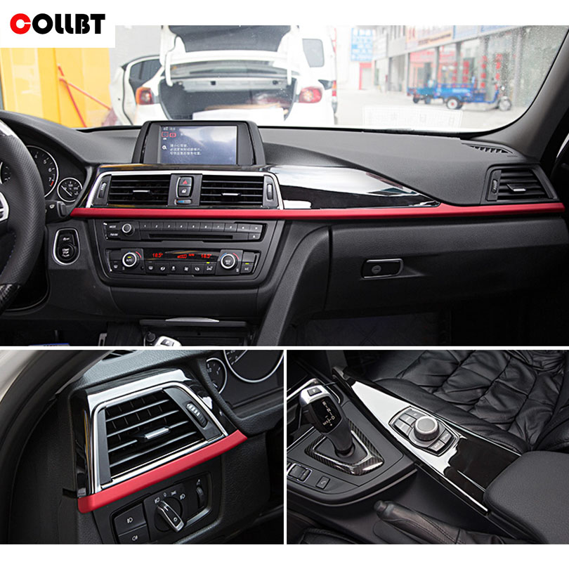 COLLBT ABS Matte Center Console Decoration Panel Cover Trim For BMW 3 4 Series F30 F34 GT 316li 320li 2013-2017 Car Accessories