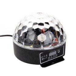 LED RGB kryształowa magiczna kula efekt światła DMX Disco światła sceniczne dla dj'a dla klub karaoke Pub Bar pokaz weselny aktywowany głosem w Oświetlenie sceniczne od Lampy i oświetlenie na