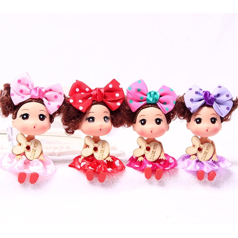 High Quality Party wedding dress doll for girls best gift keychain small pendant Phone Pendant Ornament Valentines day gifts