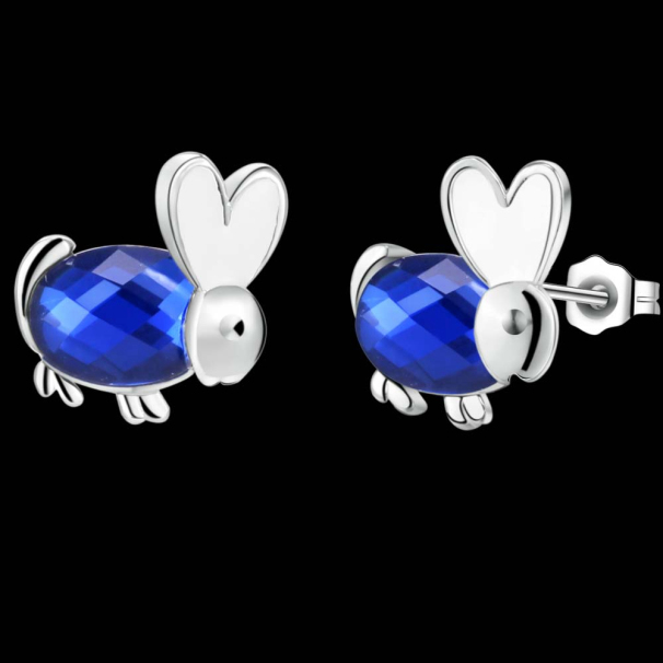 2017 Cute Designer Australian Crystal Rabbit Stud Earrings Top Fashion S Exclusive Party