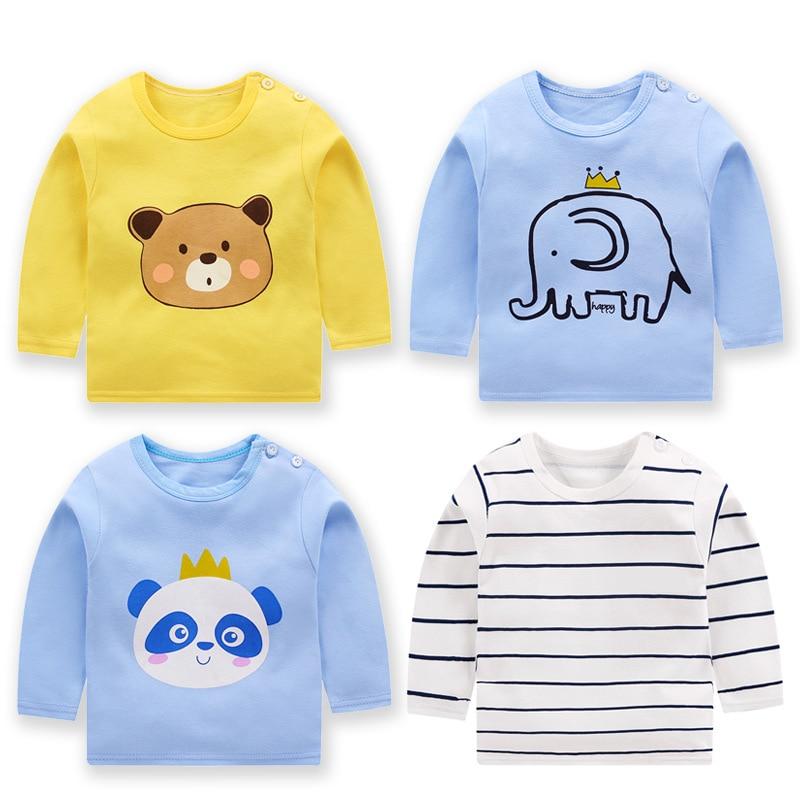 Girls Shirts Kids Clothes Long-Sleeve Rabbit-Print Baby-Boy Costume-Top Tees Child