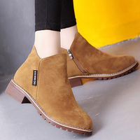 Ankle Boots For Women Warm Shoes 2017 Trendy Faux Suede Short Plush Wedges Winter Boot Solid