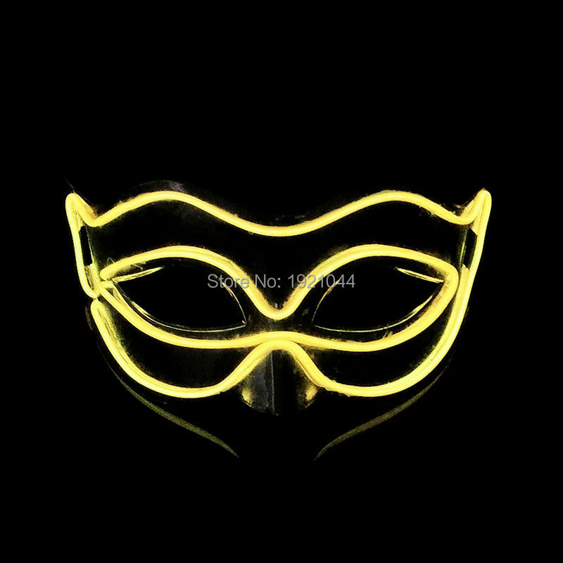 Hot sales Fashion Party mask 100pieces 10 Color Optional Fox Masks Glowing products For  ...