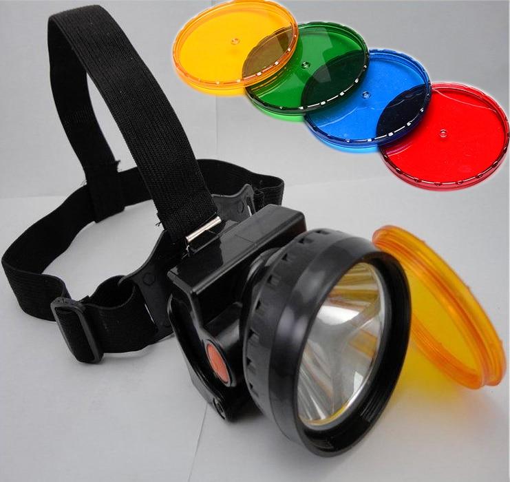 10pcs Lampă cu LED-uri 3W cu LED-uri mai luminoase și mai luminoase cu lentilă de culoare pentru mină de vânătoare Camping Light Transport gratuit de la DHL HS0092