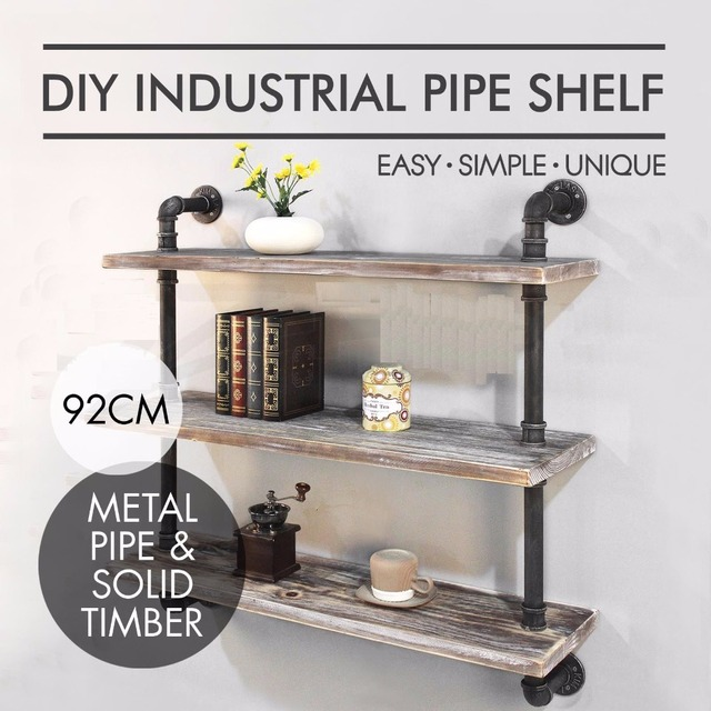 Wall Mounted Kitchen Shelves Repair Cabinets Shelf Industrial Practical 3 Layers Bookshelves Household Storage Usa Stock