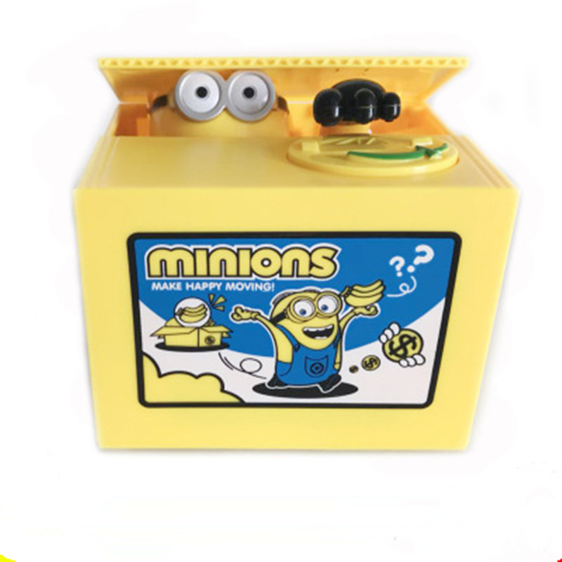 Pokemon MONIONS toys electronic piggy bank store display money box Steal coin safe for kids gift exotic desk toy Creative casePokemon MONIONS toys electronic piggy bank store display money box Steal coin safe for kids gift exotic desk toy Creative case