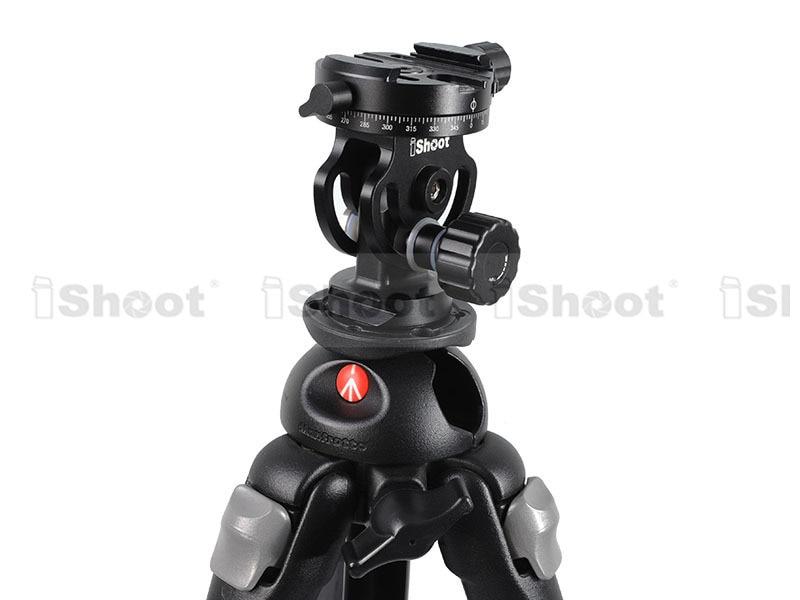 iShoot 2D 360 Panoramic Panorama Ball Head for Camera Tripod Monopod Ballhead Quick Release Plate ON