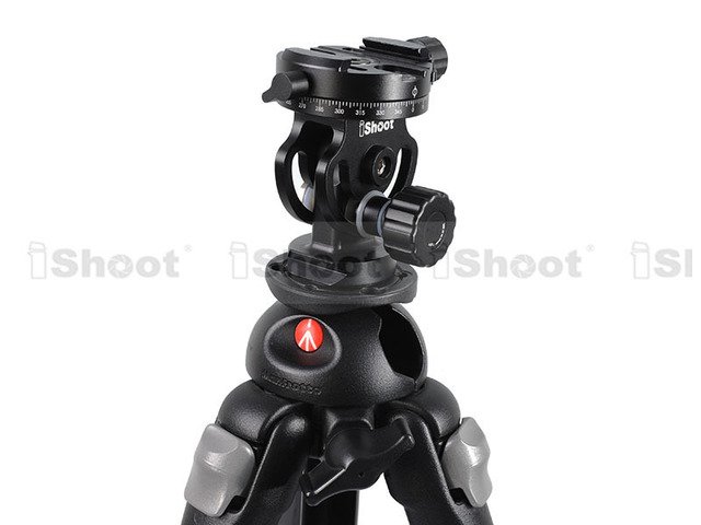 iShoot 2D 360 Panoramic Panorama Ball Head for Camera Tripod Monopod Ballhead Quick Release Plate - ON SALE