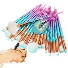21/20 Pcs Diamond Makeup Brush Set Pro For Foundation Powder Blush Eyeshadow Lip
