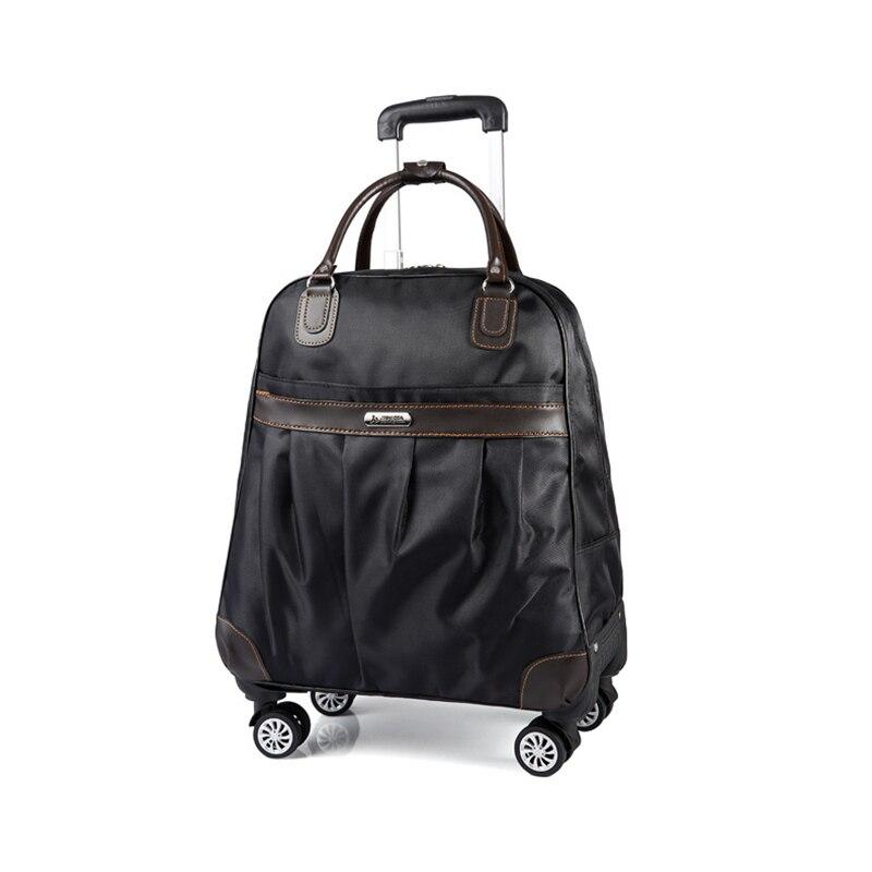 Для женщин Путешествия чемодан случае Spinner чемодан для мужчин сумки на колесах леди колесных чемодан тележка Сумка
