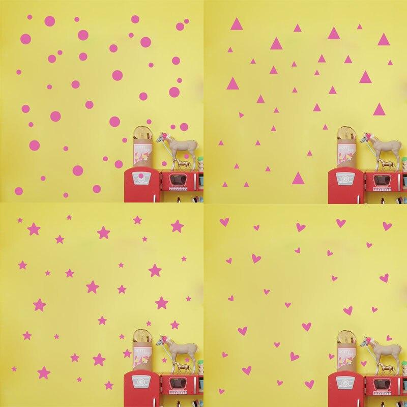 Simple Shape Wall Sticker Geometric Design Wall Decoration Baby Room ...