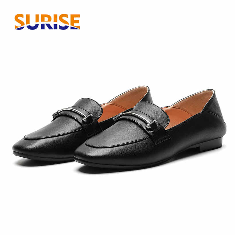 Britse Vrouwen Loafers Zachte Microfiber Ronde Neus Keten Oxfords Casual Office Dress Mocassins Retro Bruin Zwart Slip-on Lady flats