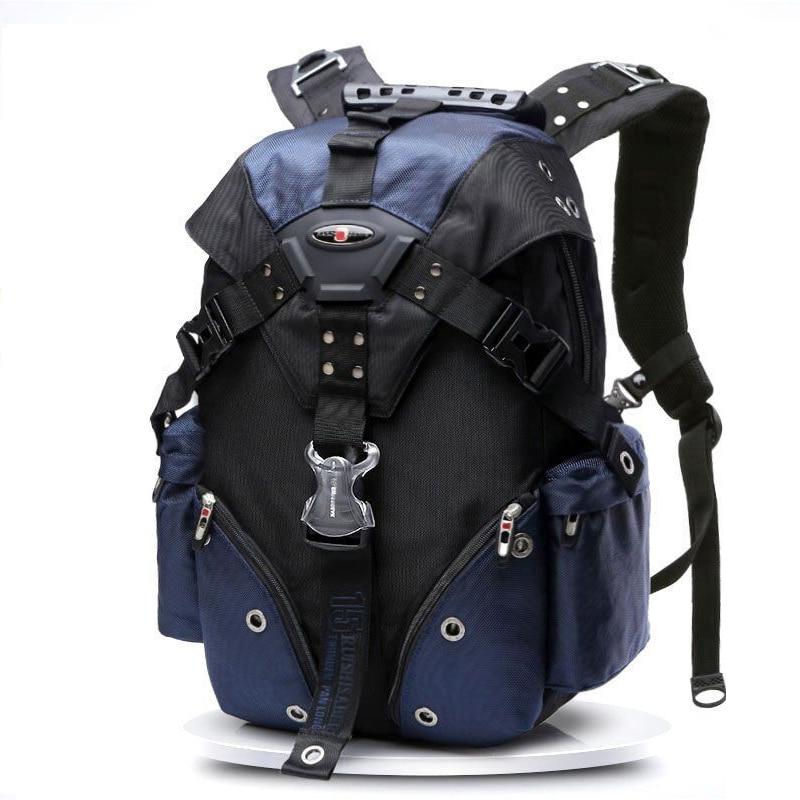Swiss Waterproof Travel Backpack Men Black Oxford Laptop Backpack 15.6'' Large Multifunctional Schoolbag Business mochila Women-in Backpacks from Luggage & Bags    1