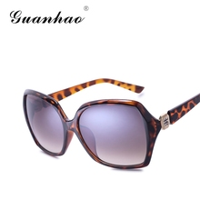 GUANHAO 2017 New Arrival Women Sunglasses Oval Eyewear Fashion designer Sunglasses UV400 Uv protection&Hd view Glasses Brand Len