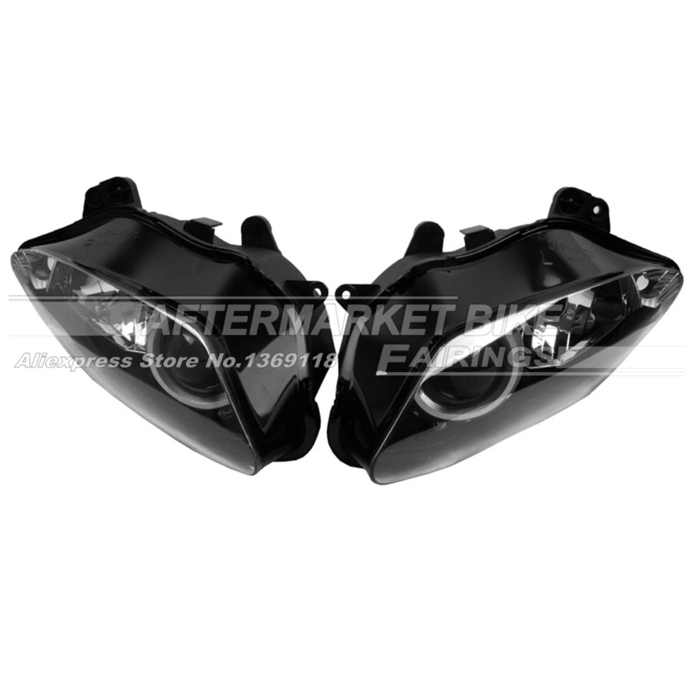 Motorcycle Headlight Set For Yamaha YZF R1 2007 2008 Motorbike Head Light Front Lamp Assembly