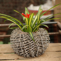 New arrival sztuczne kwiaty doniczkowe ptasie gniazdo serii kosz rattan wazon rocznika romantyczna dekoracja domu